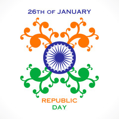 happy flora republic day greeting design vector
