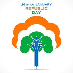 republic day greeting design unity concept design vector