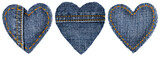 Jeans Heart Shape Patch with Stitches Seam, Valentine day