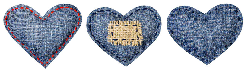 Jeans Heart Shape Patch, Valentine Day Decorative Object
