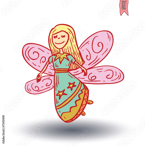 fairie. vector illustration. © carlacdesign