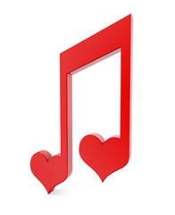 Love Heart Musical Notes
