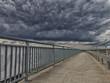 canvas print picture - Bedrohliche wolken