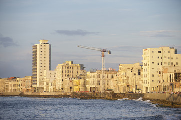 Havana Cuba Malecon Waterfront Skyline