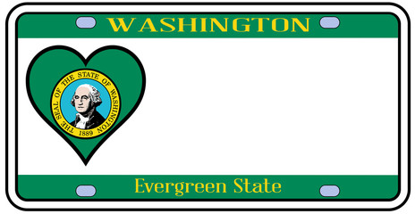 Washington State License Plate