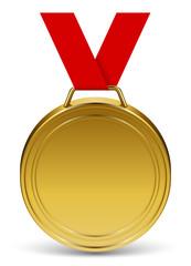 Médaille d'or vectorielle 1