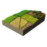 farmland 3d model ecosystem poster