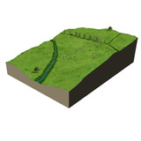 model terrain ecosystem countryside poster