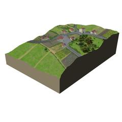 Terrain village