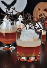 Halloween dessert in a glass