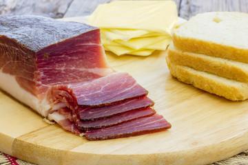 Slices of tasty Italian Speck