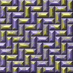Abstract seamless pattern with 3d mosaic