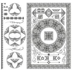 Set of decorative elements.