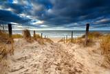 Fototapety Sand path to North sea beach