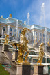 Grand Cascade Fountains in Peterhof Palace, Russia