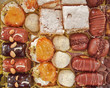 variety of pastries, sweet background