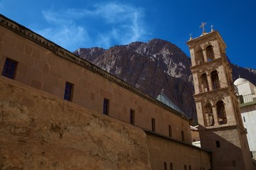 Inside the walls of St Catherine's Monastery