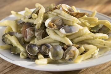 pasta at the clams