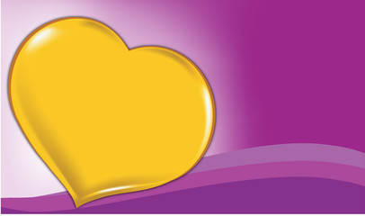 purple background with hearts and wave