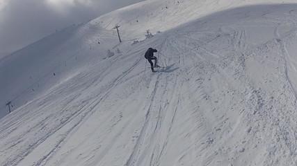 Skier fakk down on the snow
