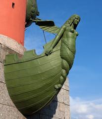 Figures on Rostral Column, Saint Petersburg