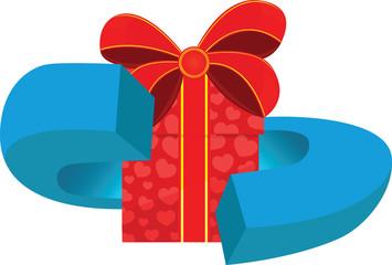 Logo - emblem gift box