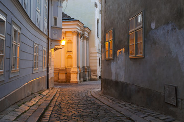 Scenery in the old town of Bratislava, Slovakia.