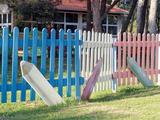 Wooden colored fence
