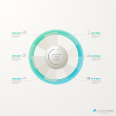 Business circle infographic template.
