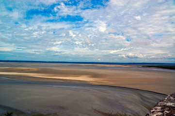 Panorama from Mont Saint Michel, France
