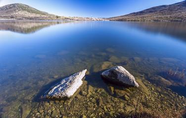 landscape Lake. Madrid. Spain. Lozoya