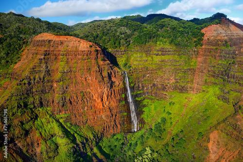 Stunning aerial view into Waimea Canyon, Kauai - 75465798