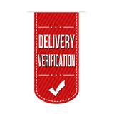 Delivery verification banner design poster