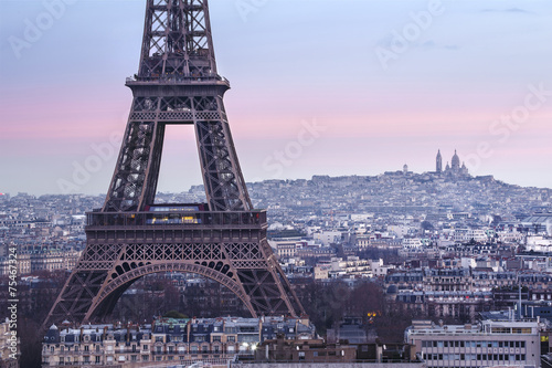 Panorama de la ville de Paris avec la Tour Eiffel