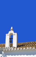Church roof in Alte, Portugal