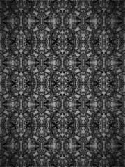 Black vintage floral seamless background