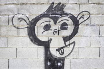 Graffiti simian