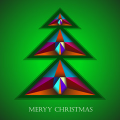 Christmas tree in colorfully decorated.Abstract background.