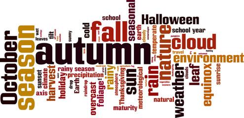 Autumn word cloud concept. Vector illustration