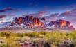 Leinwandbild Motiv Superstition Mountains