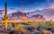 Leinwanddruck Bild - Superstition Mountains