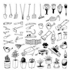 Gardening Tools, illustration vector.
