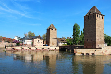 Ponts Couverts towers, Strasbourg, France