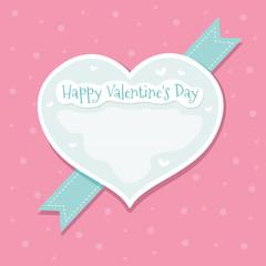 Happy Valentine's Day. Greeting Card