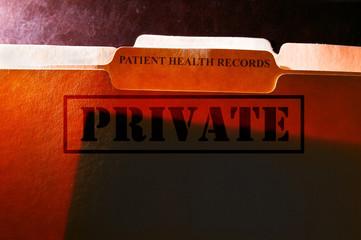 Patient Health Records folders