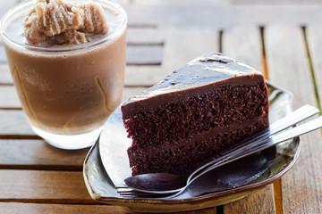 Dark Chocolate Cake and Chocolate frappe
