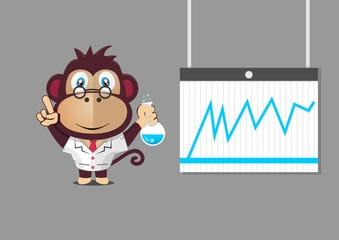 Monkey mascot profesor