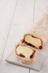 Artic Swiss roll dessert cake