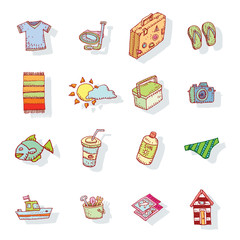 vector collection Summer Icons.