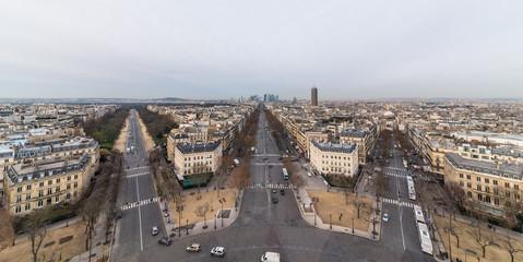パリ 凱旋門から望むパリ市内